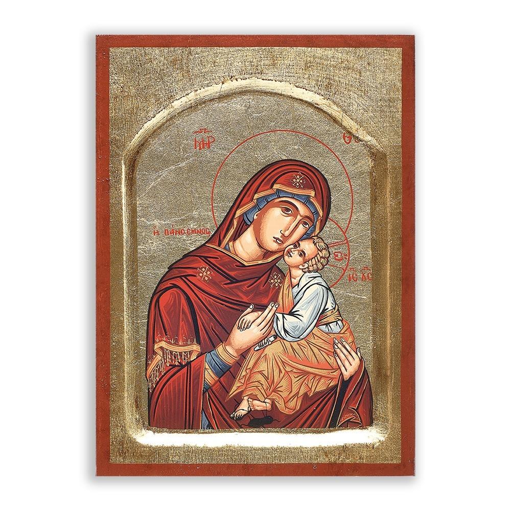 Icona Madonna con Bambino h 18,5 cm