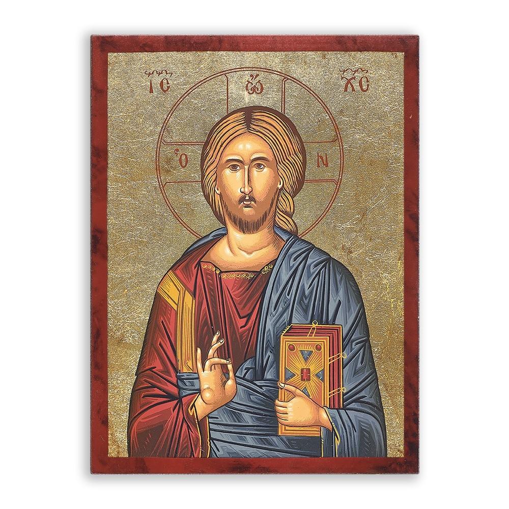 Icona Gesù Pantocratore 11x15 cm