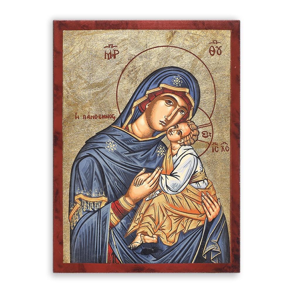 Icona Serigrafata Madonna con Bambino