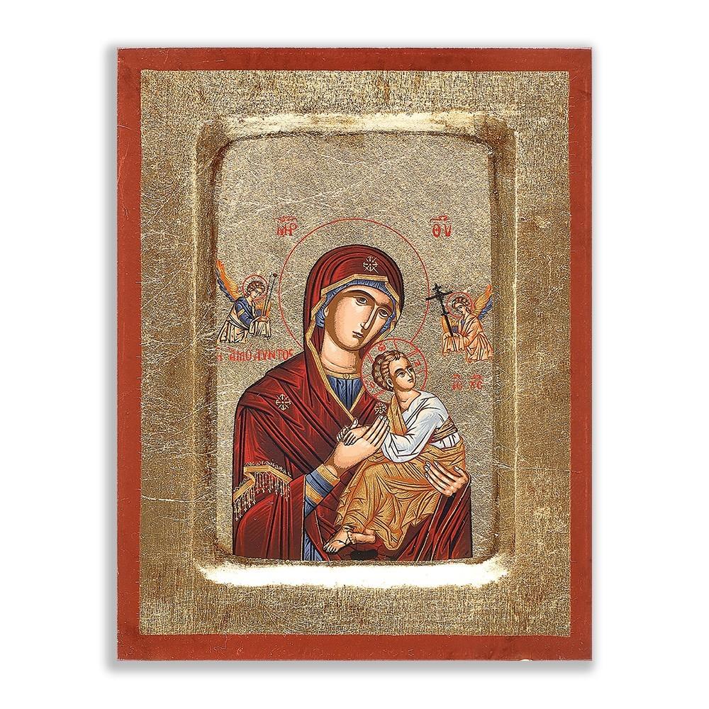 Icona Madonna con  Bambino su Foglia oro