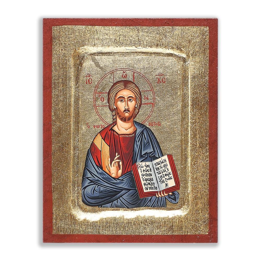 Icona Cristo Pantocratore 11x15 cm