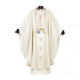 Casula con Madonna di Fatima