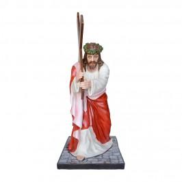 Statua Gesù Cadente h 127 cm