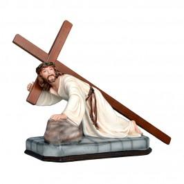 Statua Gesù Cadente in Resina
