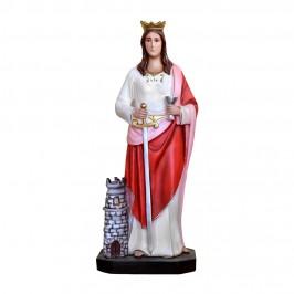 Statua Santa Barbara in Resina