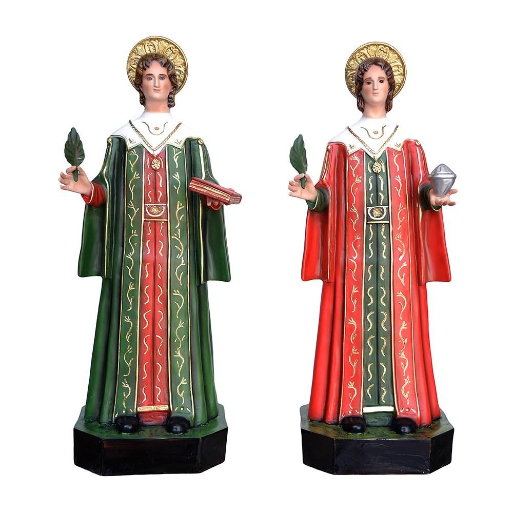Statua Santi Cosma e Damiano in Vetroresina