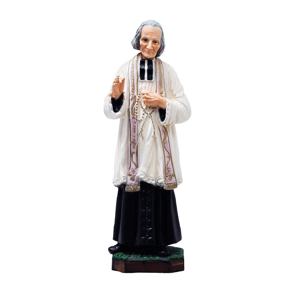 Statua Santo Curato d'Ars h 30 cm