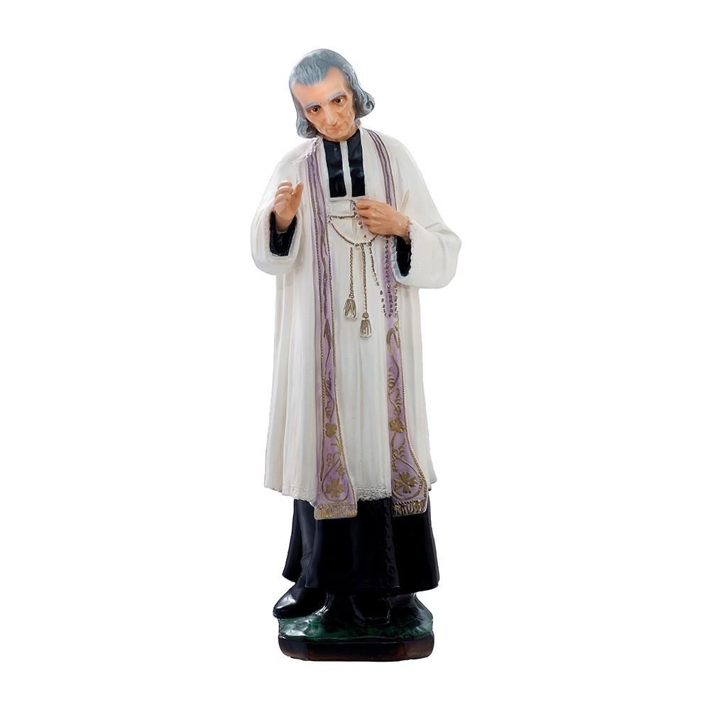 Statua Santo Curato d'Ars in Resina