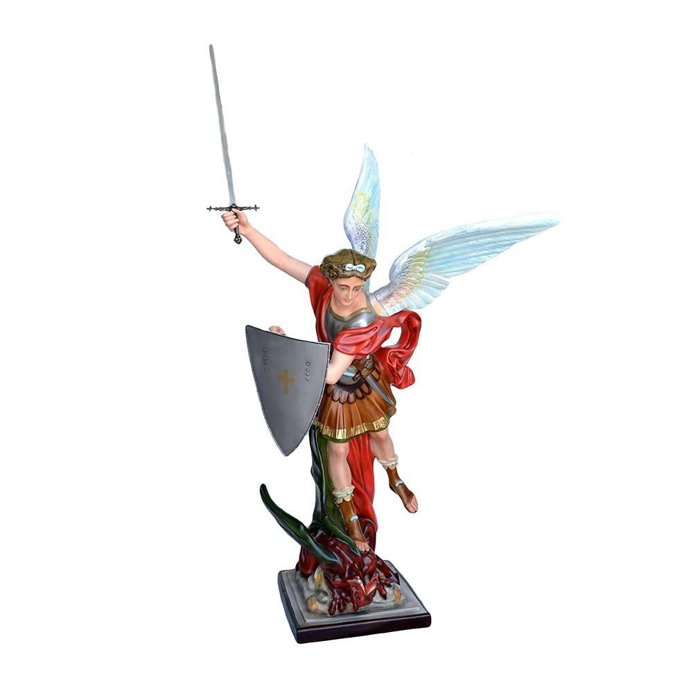 Statua San MIchele con Scudo alta 160 cm