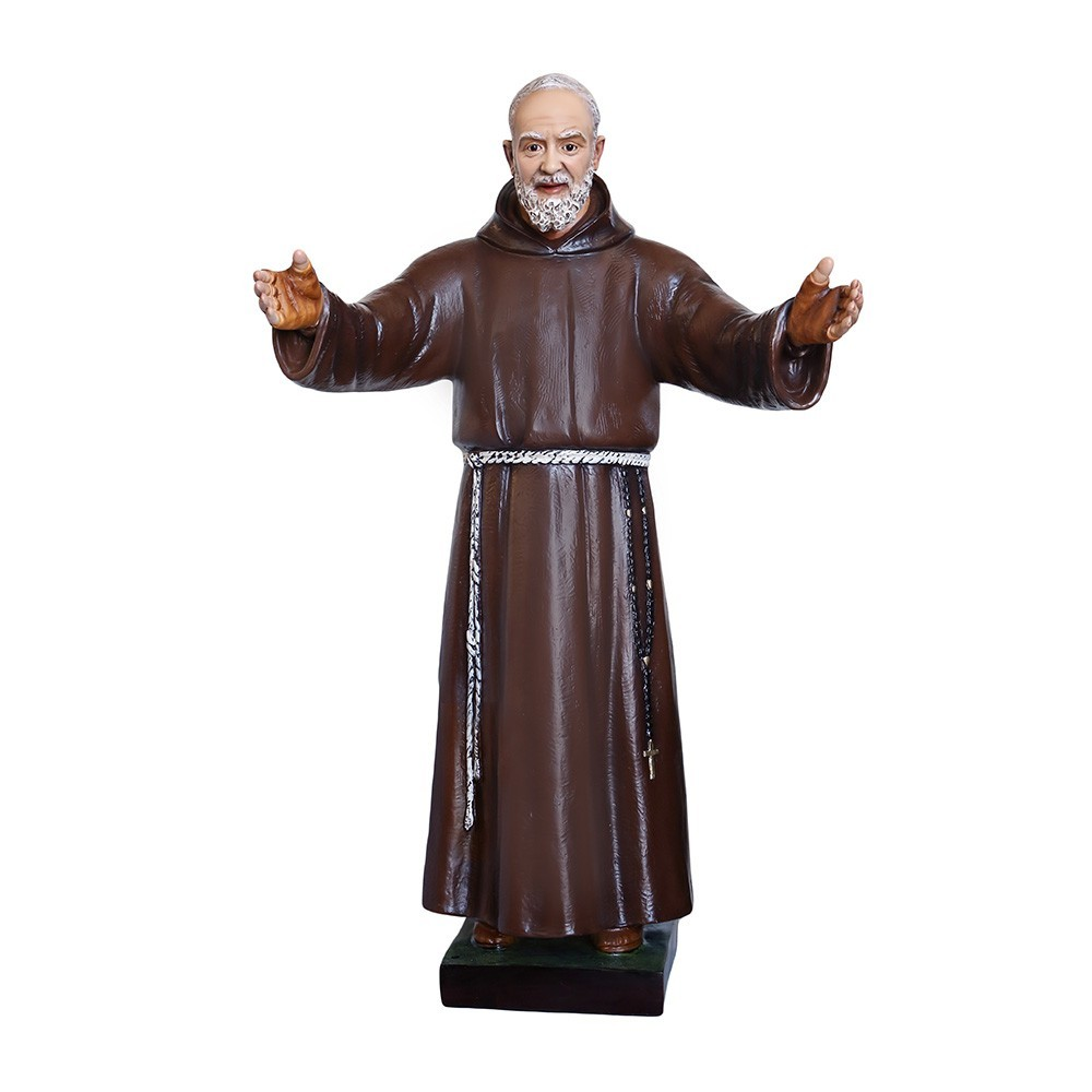 Statua San Pio h 110 cm in Vetroresina